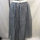HAUS ALKIRE NAVY WHITE GREEN WATERCOLOR WAIST SILK ORGANZA OVERLAY SKIRT SIZE 2