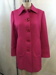 INC PETITE HOT PINK WOOL BLEND PEACOAT SIZE P