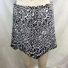 MLM BLACK/ WHITE LEOPARD THE LABEL SPIKE POINT SKIRT SIZE M RETAIL $154