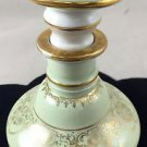 LIMOGE LARGE LARGE GREEN PERFUME BOTTLE W/GOLD TONE TRIM