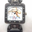VERY RARE .925 STERLING COWGIRL MUSEUM AND HALL OF FAME 2003 WATCH  BY B. CORD