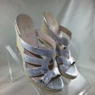 FRANCO SARTO A-KRUSH SILVER METALLIC ROPE WEDGES SIZE 7.5 M