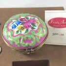 RARE LIMITED EDITION LIMOGE PINK GREEN ROUND TRINKET BOX N0. 300 OF 300