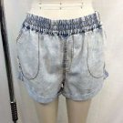 MINK PINK LIGHT WASH DENIM SEEING DOUBLE CUFFED SHORTS SIZE MEDIUM