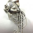 Rare Vintage Boucher Parisina Mexico Sterling Silver Designer Fantail Fish Pin