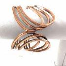 "Vintage CALIFORNIA Modernist RENOIR Solid Copper Wire Clamp Bracelet 6""-61/2"""