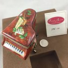 LIMOGE RARE LIMITED EDITION PIANO NO. 296 OF 300 TRINKET BOX  W/ GOLD TONE TRIM