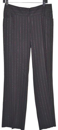 DOLCE GABBANA WOOL BLEND PANTS BLACK W/RED & SILVER STRIPES w/LABEL Sz14US/46EUC
