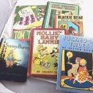 6 VINTAGE CHILDRENS BOOKS TOM THUMB,SUNNY BUNNY, BLACKIE BEAR, ETC