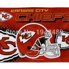 Kansas City Chiefs NFL Helmet Banner 3x5FT Digital Print Version 100D sports decoration