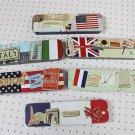 National flag stationery pencil case / pencils box / tin boxes / metal case / Tin storage box/