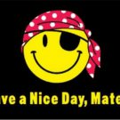 Pirate Happy Face Flag Have a Nice Day Matey Flag 3ft x 5ft Polyester Banner Flying 150* 90cm C