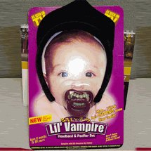 Billy Bob Lil Vampire Paci / Binky and Headband Set Halloween Costume Idea