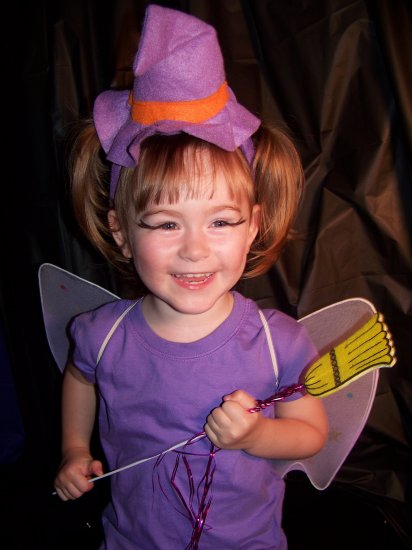 Wicked Cute Witch costume set - wings, headband and wand Toddler / Child