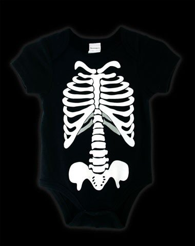 Black Skeleton print onesie size 12 months