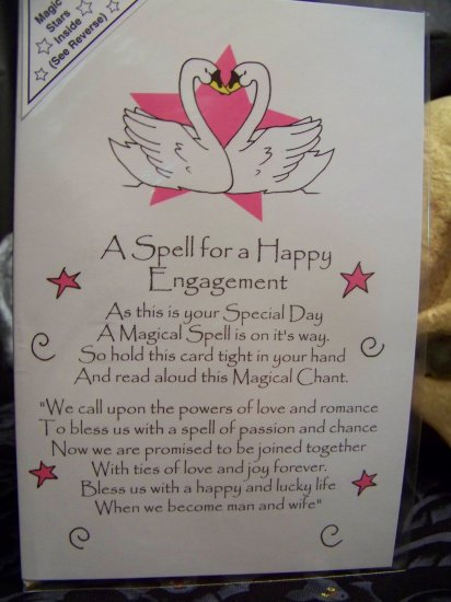 Spell for Happy Engagement Greeting Card by Magic Spells