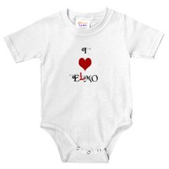 I *heart* Emo (or is it Elmo?) custom infant onesie