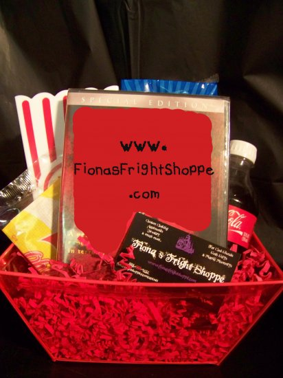 Turn your DVD into a Horror Hound's GIFT BASKET! - BLOOD RED!