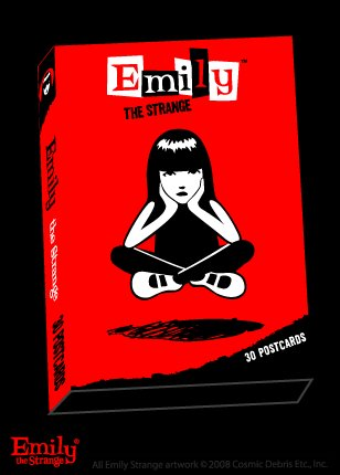 Emily the Strange Boxed 30 Postcard set - 15 designs! Sabbath, Neechee and more!