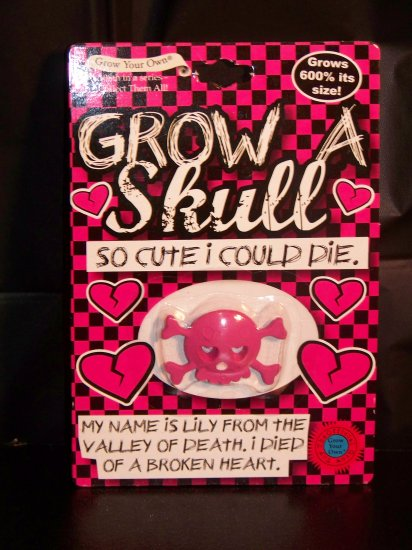 Grow A Skull PINK - so cute I could die! by Grow your Own