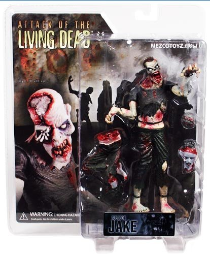 Attack of the Living Dead Series 1 Subject Jake Pale Strain Phase II Mezco Zombie figure SLASHED 40%