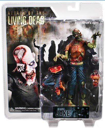 SLASHED 40% Attack of the Living Dead Series 1 Subject Jake Color Strain Phase I Mez Zombie figure