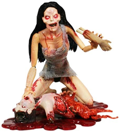 Attack of the Living Dead Series1 Hellen Pale Strain Phase II Mezco Zombie figure SLASHED 40%