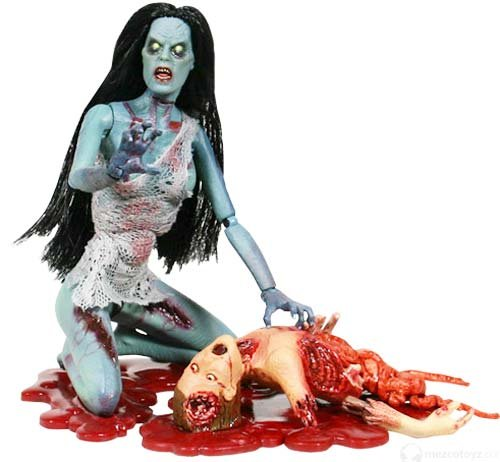 Attack of the Living Dead Series1 Hellen Color Strain Phase II Mezco Zombie figure SLASHED 40%