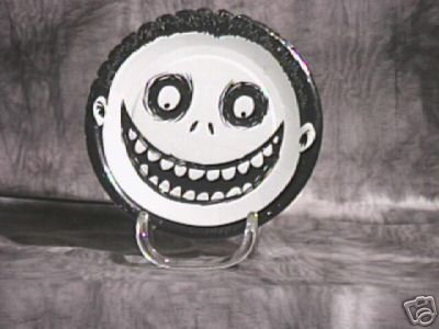 NIghtmare Before Christmas Party Plates ~ Barrel ~ Tim Burton Rare find 1993