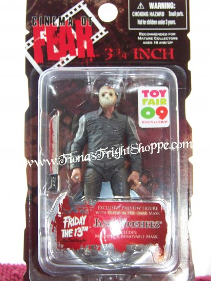 """Mezco Toy Fair 09 EXCLUSIVE 3.75"""" Jason Voorhees w/ Glow in the dark mask Friday the 13th"""