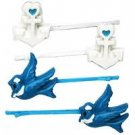 Too Fast Brand Rockabilly Swallow and Anchor hair pins