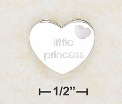 Little Princess enameled slide charm - Sterling Silver
