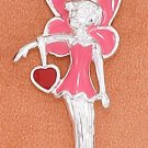 Pink Sterling Silver enameled Fairy Charm ~* Tinkerbell *~