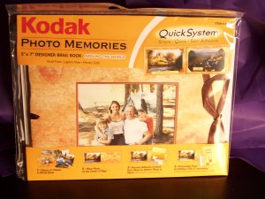 KODAK Travel  5 x 7 Photo Memories Quick System Brag or Scrap Book Kit