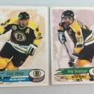 2 Cam Neely, Ray Bourque Boston Bruins 1995/96 PANINI Sticker Cards
