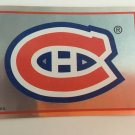 1995/96 Montreal Canadiens Team Logo Foil Panini Hockey Sticker Card # 43