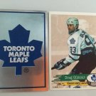 2 Doug Gilmour Toronto Maple LEAFS Team Logo 1995/96 PANINI Hockey Sticker Cards