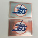 2 Winnipeg JETS 1995/96 PANINI Team Logo Foil Hockey Sticker Cards # 218