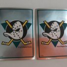 2 Anaheim Mighty DUCKS 1995/96 PANINI Team Logo Foil Hockey Sticker Cards # 229