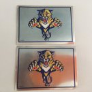 2 Florida Panthers 1995/96 Team Logo Foil Hockey Sticker Cards # 76