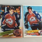 2 Peter Forsberg Colorado Avalanche 1995/96 PANINI ROOKIE Hockey Sticker Cards