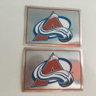 2 Colorado Avalanche 1995/96 PANINI Team Logo Foil Hockey Sticker Cards # 251