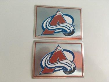 2 Colorado Avalanche 1995/96 PANINI Team Logo Foil Hockey Sticker Cards # 251