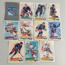All 11 New York Rangers TEAM SET 1995/96 Panini Hockey Sticker Cards - MESSIER