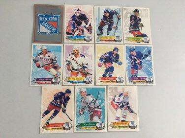 All 11 New York Rangers TEAM SET 1995/96 Panini Hockey Sticker Cards - MESSIER