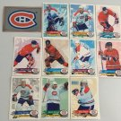 11 Montreal Canadiens TEAM SET 1995/96 Panini Hockey Sticker Cards - PATRICK ROY