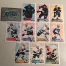 All 11 Los Angelas Kings TEAM SET 1995/96 Panini Hockey Sticker Cards - GRETZKY