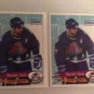 2 1995/96 Wendel Clark Colorado AVALANCHE PANINI Hockey Sticker Card # 247