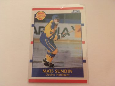 Mats Sundin 1990/91 Score Quebec Nordiques Rookie RC Hockey Card #398