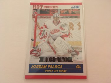 Jordan Pearce 2011/12 Score Detroit Red Wings Rookie and Traded Rookie RC Hockey Card #611